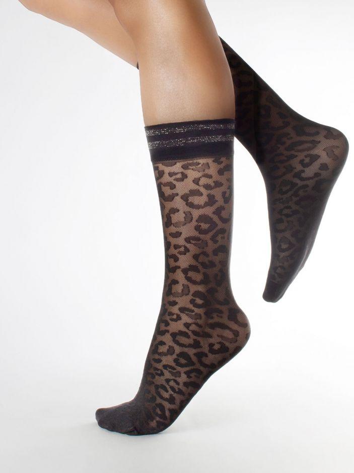 Leopard motif socks | Pack 2 Pairs