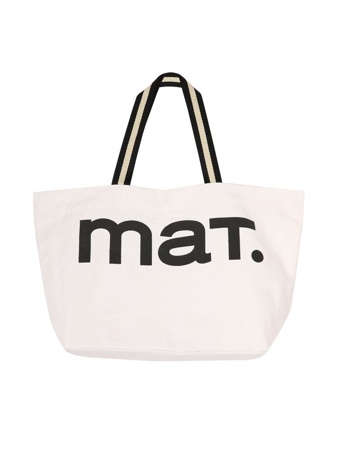 MAT logo canvas shopper bag