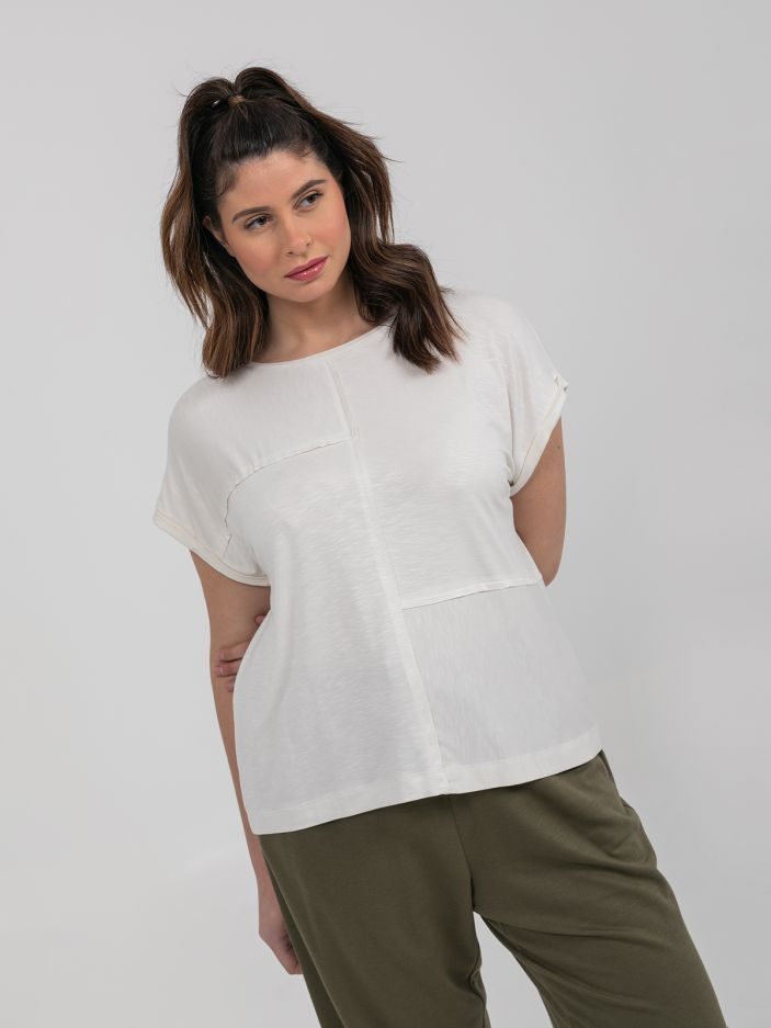 Viscose patchwork top