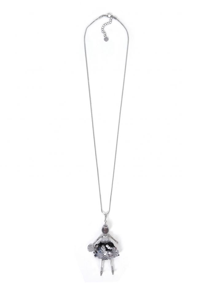 Neck chain with girl charm