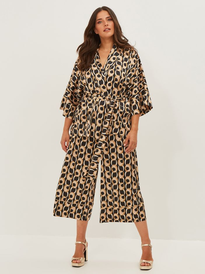 Culotte trousers in graphic print