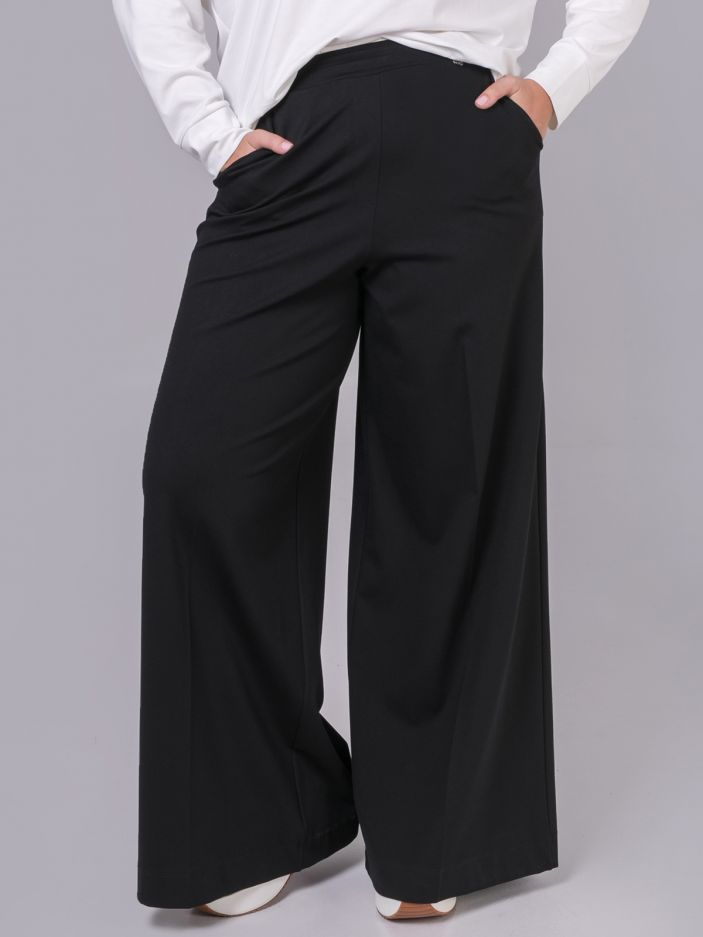 Viscose wide-leg trousers