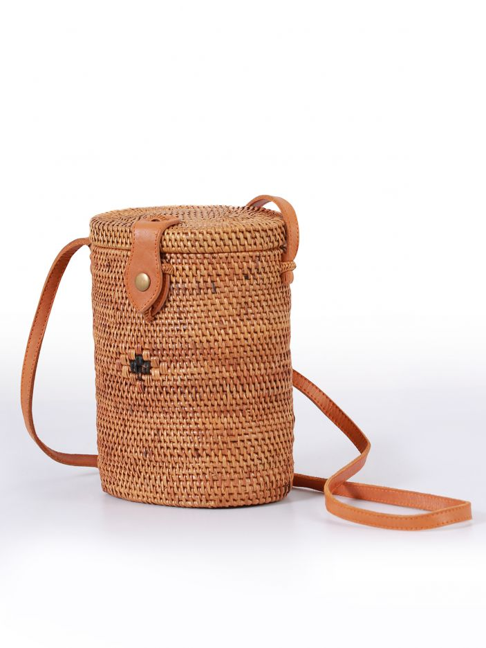 Raffia cross body bag
