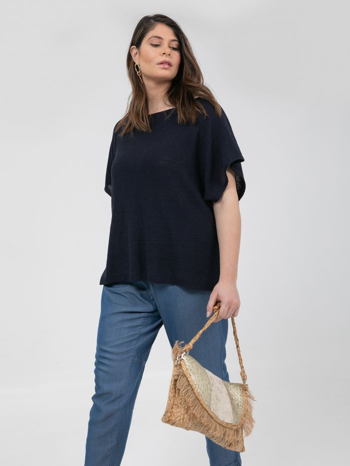 Raffia cross body bag