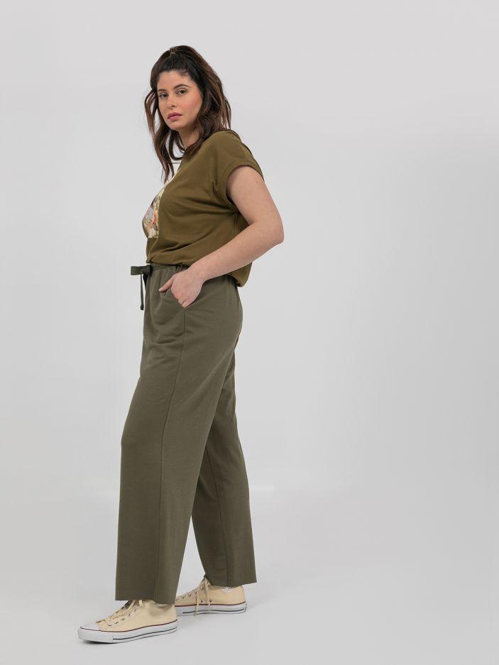 Raw cut flare trousers