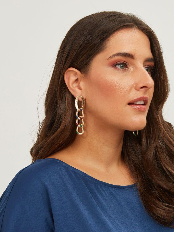 Chain gold-tone earrings