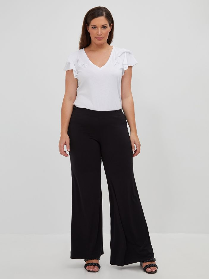 Super-jersey flare pants