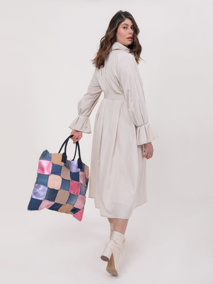 Patchwork shopper bag