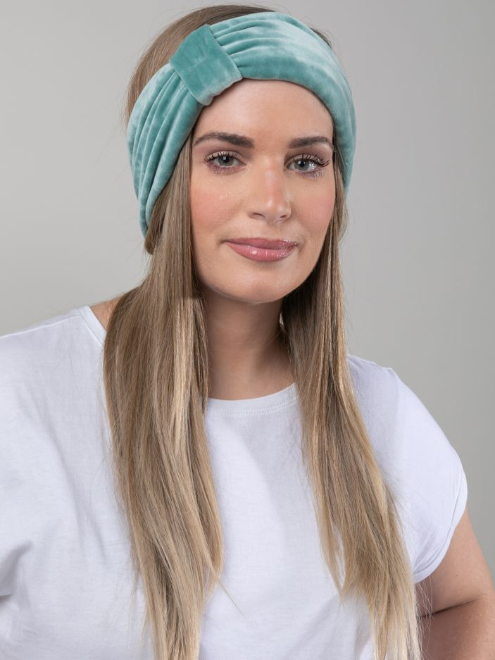 Velour knot headband