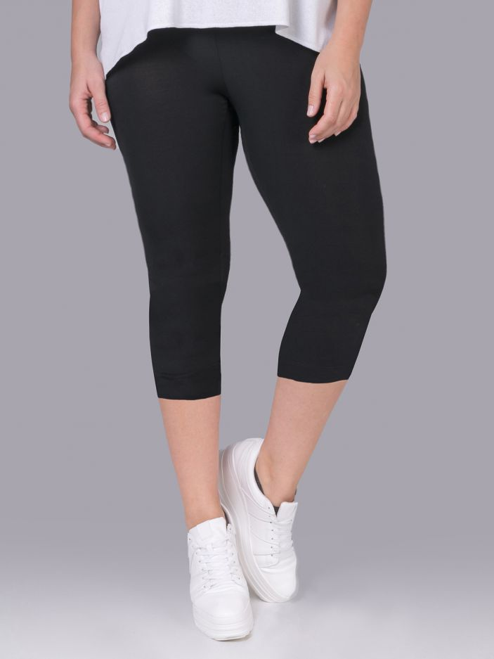 Viscose capri shorts