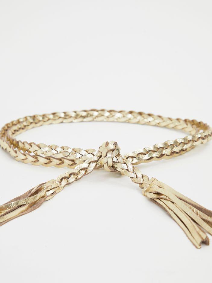 Gold wrap-around belt