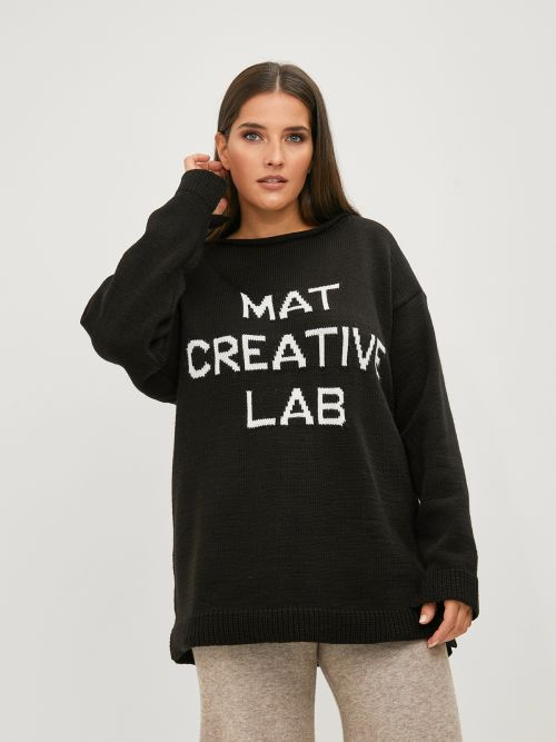 'Mat Creative Lab' logo sweater