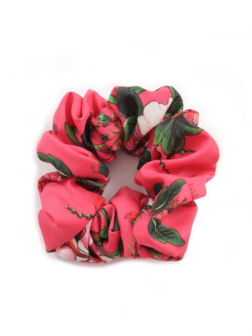 Scrunchie σατέν με φλοράλ μοτίβα