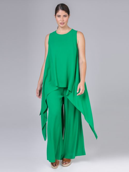 Asymmetric sleeveless top | Online Exclusive
