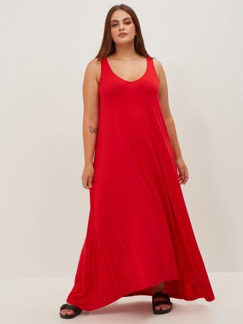 Basic φόρεμα κόκκινο