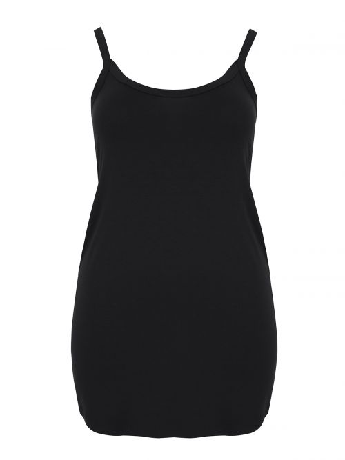 Basic viscose long tank top