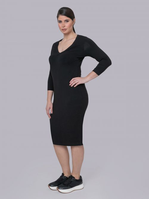 Basic viscose/lycra dress