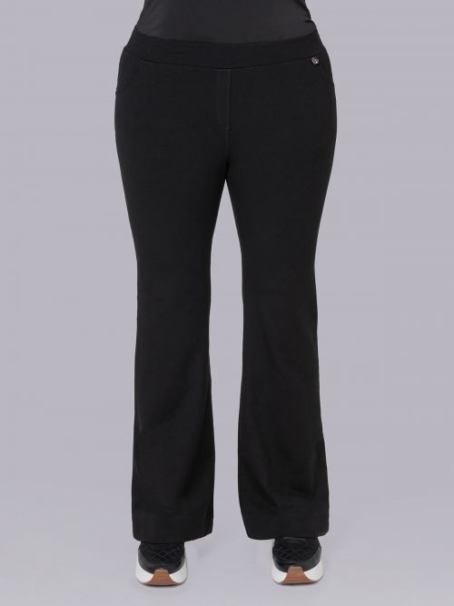 Basic viscose/lycra flare pants