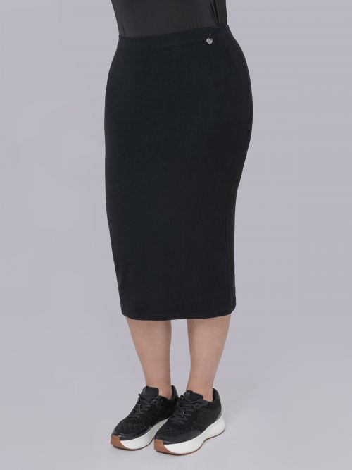 Basic viscose/lycra skirt