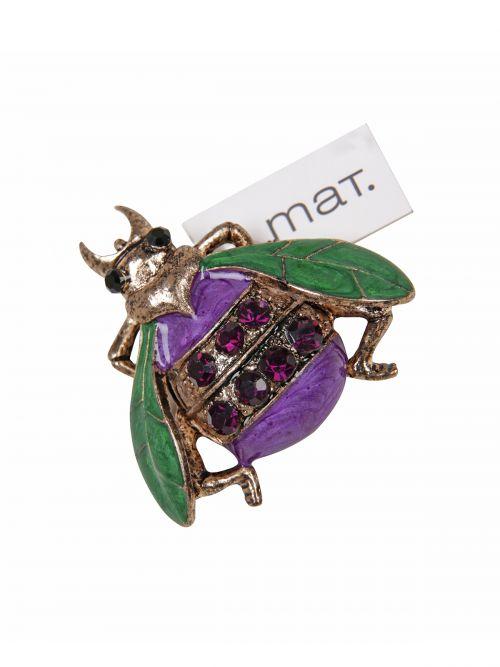 Beetle pin brooch
