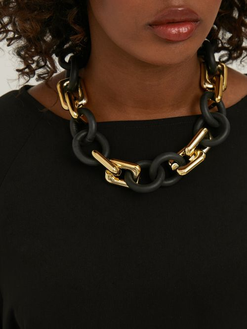 Chain & rubber necklace