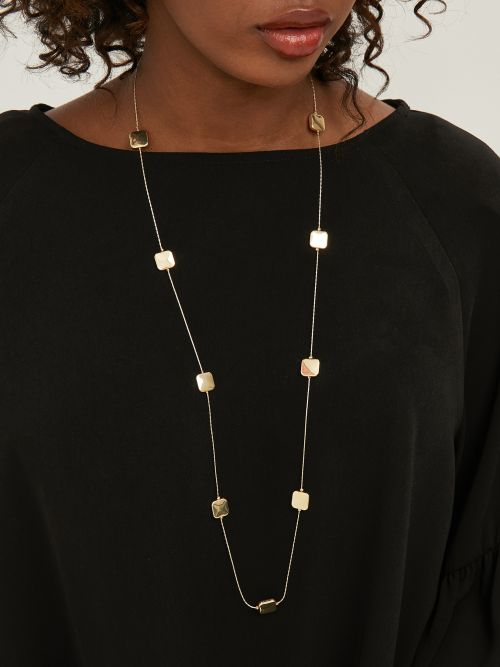 Chain necklace with square charms