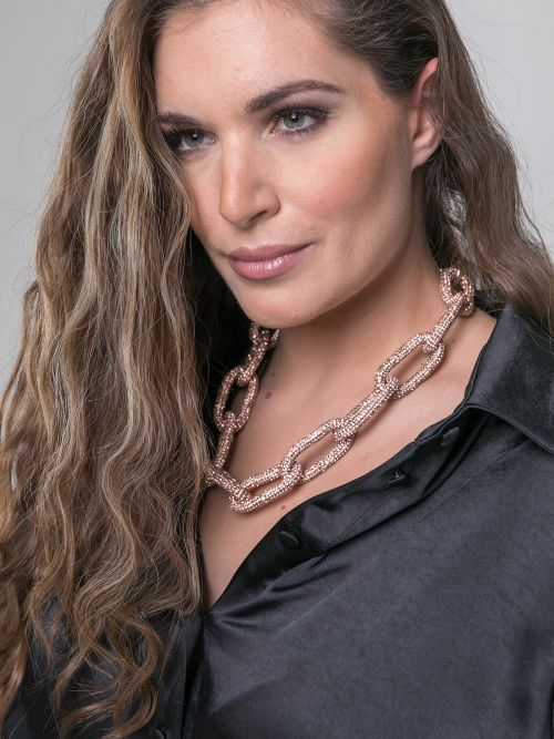 Chain necklace with strass