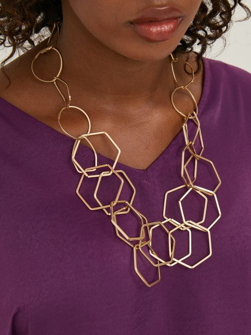 Chunky circle necklace