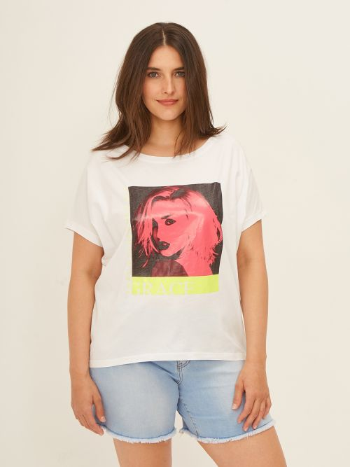 Cotton 'Grace' t-shirt with female character print