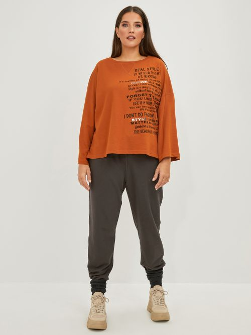 Cotton-blend sweat with print