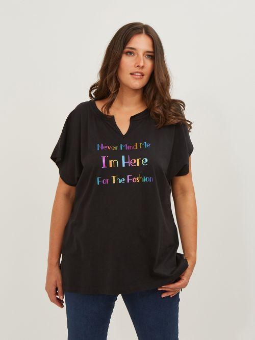 Cotton hologram print t-shirt