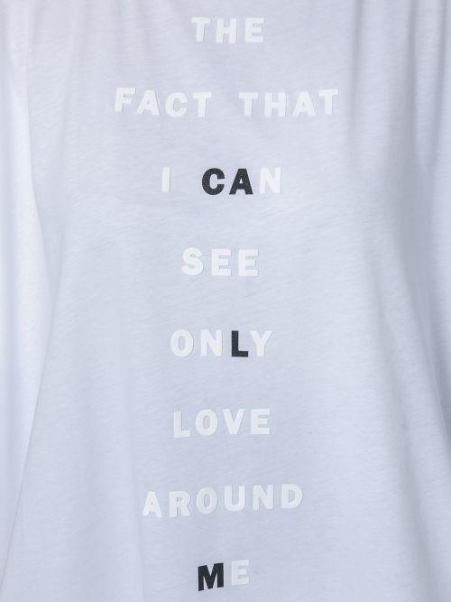 Βαμβακερό μπλουζοφόρεμα με στάμπα