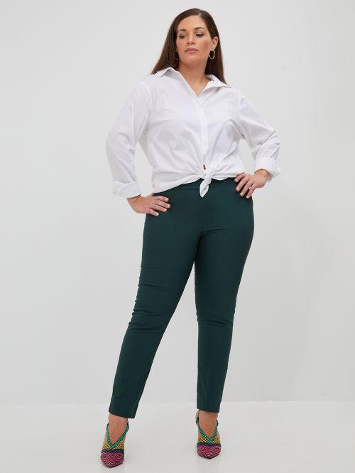 Cotton slim pants