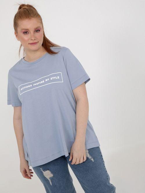 Μπλούζα βαμβακερή με στάμπα