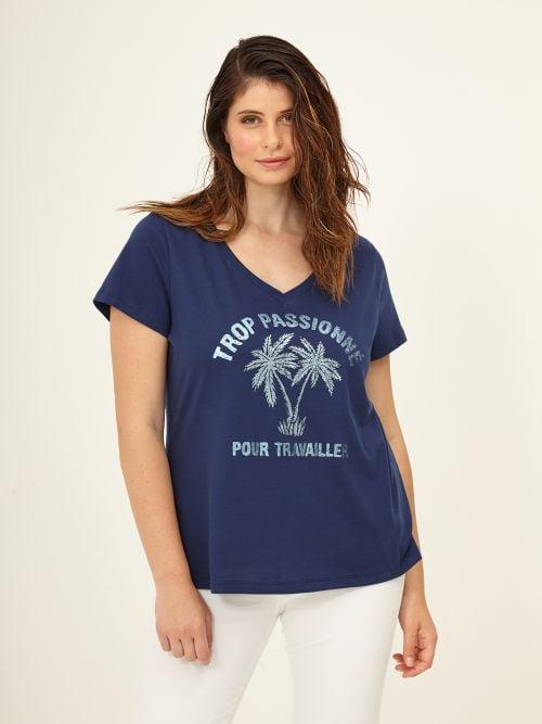 Μπλούζα t-shirt με glitter στάμπα