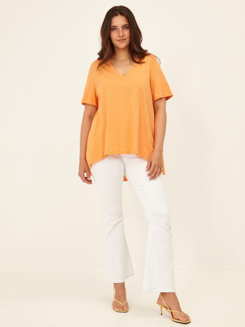 Μπλούζα βαμβακερή με πτυχώσεις