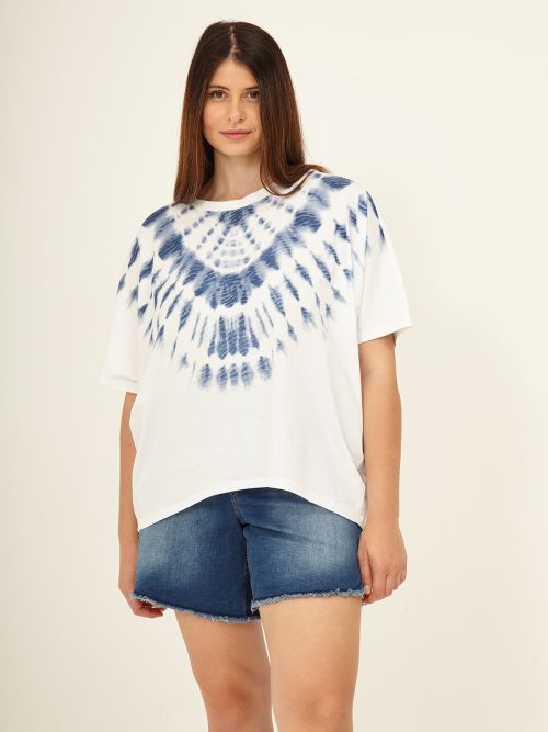 Cotton tie-dye printed t-shirt