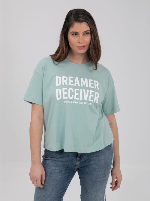 Μπλούζα βαμβακερή 'Dreamer Deceiver'