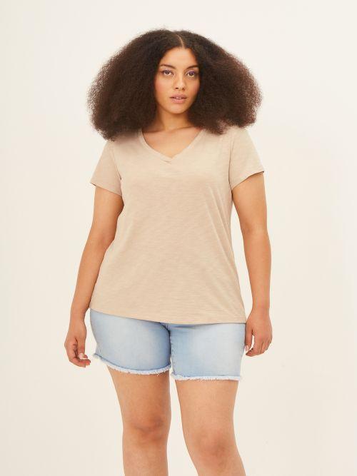 Cotton V-neck top