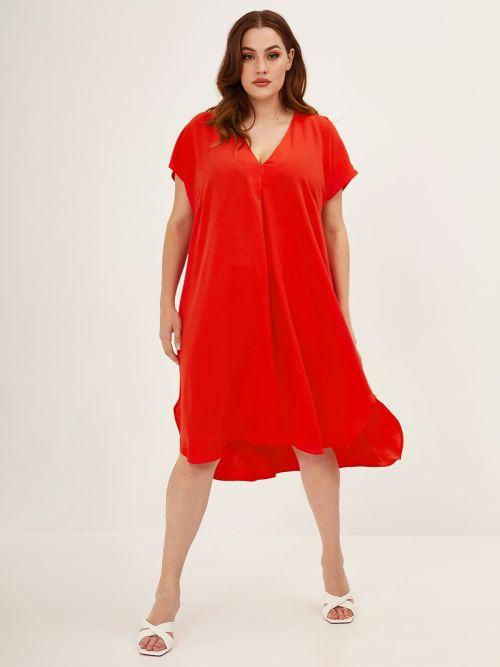 Φόρεμα V με πιέτες