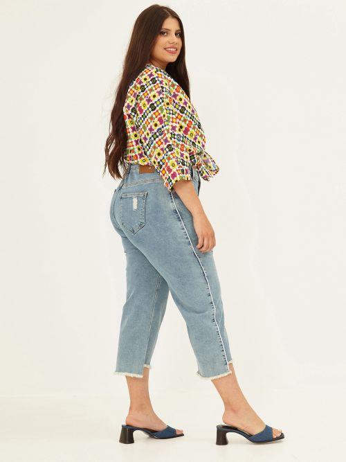 Cropped regular leg jeans