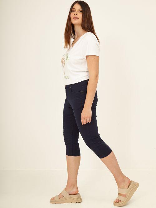 Cropped slim leg pants