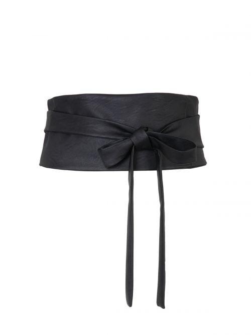 Δετή ζώνη με leather look υφή | Online Exclusive