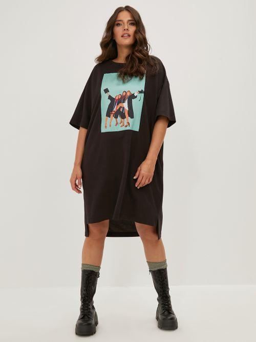 Φόρεμα t-shirt με στάμπα