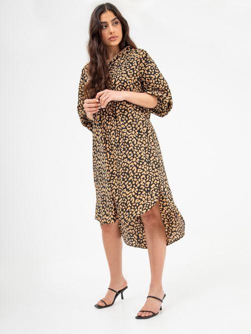 Φόρεμα hoodie animal print