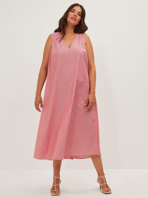 Pinestripe A-line dress