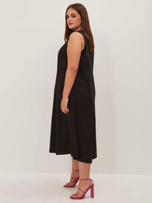 Poplin A-line dress