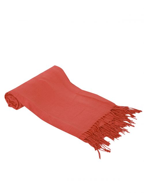 Plain fringed scarf