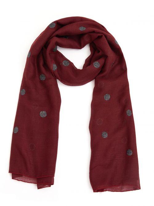 Glitter polka dot scarf