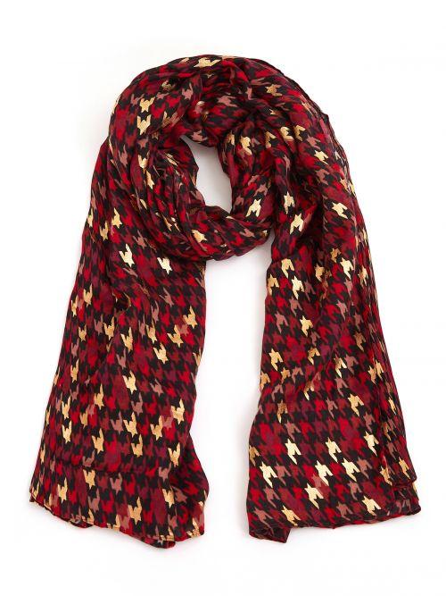 Graphic printed viscose shawl